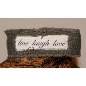 Live Laugh Love Bracelet Army Green Camo Fabric